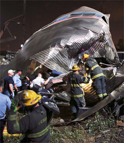 Amtrak derailment in Philadelphia