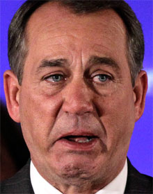 Incoming Weeper of the House John Boehner (R-OH)