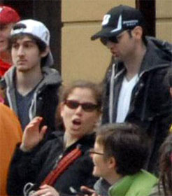 Boston Marathon bombers Dzhokar and Tamerlan Tsarnaev