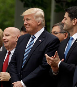 Kevin Brady, Donald Trump and Paul Ryan