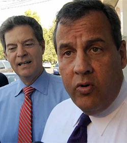 Sam Brownback and Chris Christie