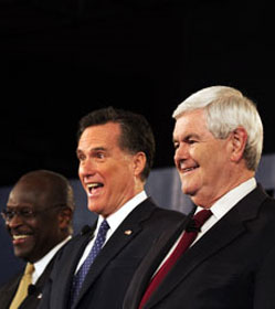 Cain, Romney & Gingrich