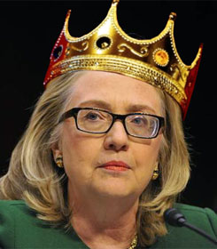 Hillary Clinton in crown
