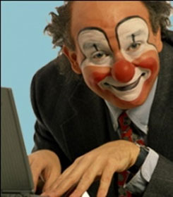 Clown typing