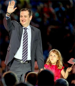 Ted Cruz and daughter Caroline