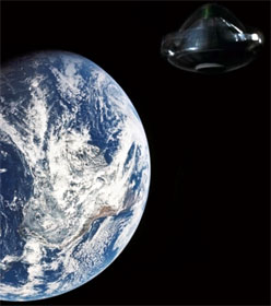 Earth and UFO