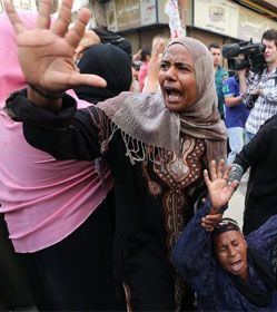 Egyptian woman protesting mass death verdict