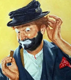 Illustration of Red Skelton as Freddie the Freeloader