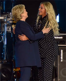 Hillary Clinton and Beyonce