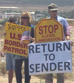 Murrieta, CA protesters