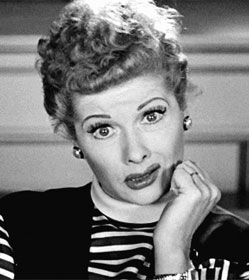 Lucille Ball as Lucy, puzzled