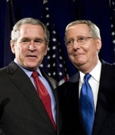 Former Pres. Bush & Senate Minority Leader Mitch McConnell (R-KY)