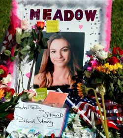 Memorial for Meadow Pollack, Parkland FL mass shooting victim