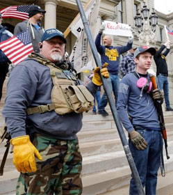 Armed Michigan protesters