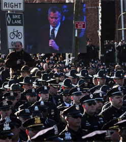NYC police turning backs on Mayor DeBlasio