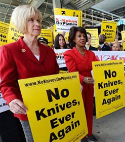 Janice Hahn and Maxine Waters at LAX protest