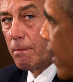 Barack Obama and John Boehner