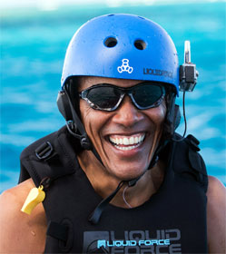 Barack Obama on vacation