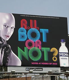 Selling vodka to robots
