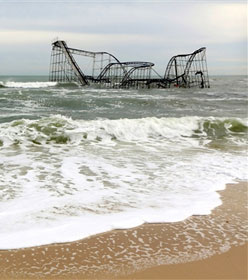 N.J. rollercoaster submerged after Hurricane Sandy