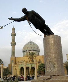 Saddam statue toppled 2003