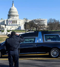 Funeral procession for Brian Sicknick, kiled at U.S. Capitol