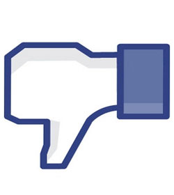 Thumbs down on Facebook