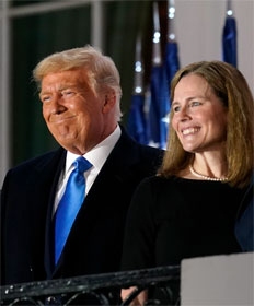 Donald Trump and Amy Coney Island