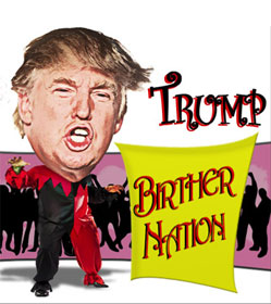 Trump Birther Nation illustration by Mario Piperni