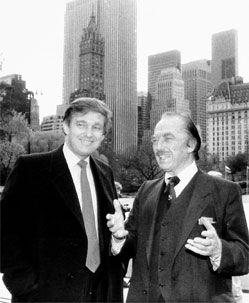 Fred Trump talking to his son Donald