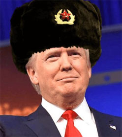 Donald Trump in Russian hat