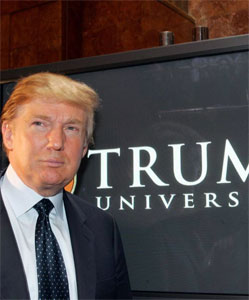 Donald Trump promoting Trump University