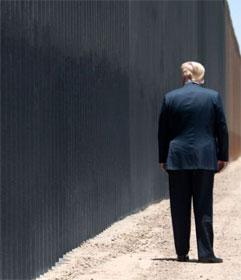 Donald Trump at border wall