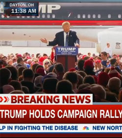 Trump rally on MSNBC
