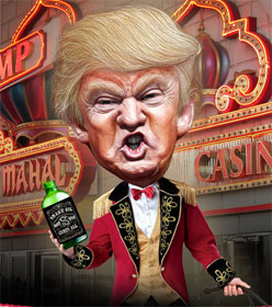 Donald Trump as snake oil salesman