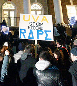 University of Virginia rape protest