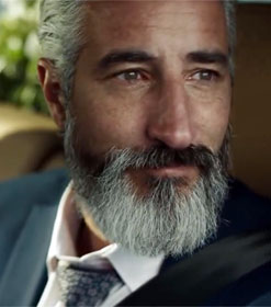 Man in Volvo commercial