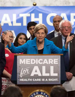 Elizabeth Warren at Medicare For All event